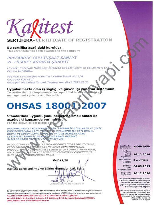 İSG Yönetim Sistemi Belgesi