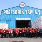 Prefabrik Yapı Çalışanları Plaketlerini Aldı