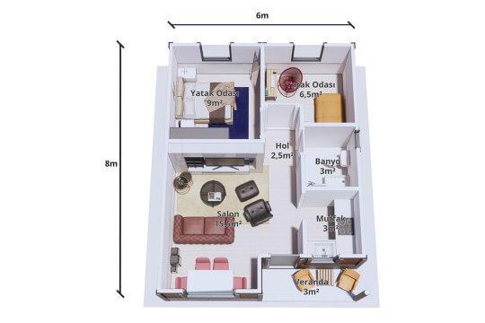 PAKET EV 48 m²